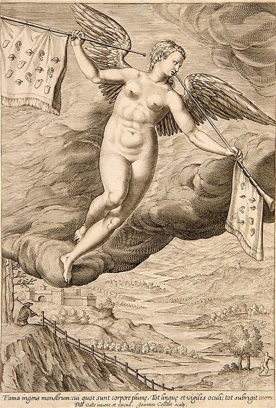 Hans Collaert, (Flemish, 1566-1628), Fama ingens monstrum