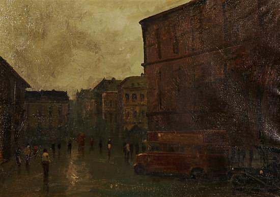 Anton (Rudolf) Mauve Jr., (Dutch, 1876-1962), London Street Scene