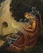 Claude Buck, (American, 1890-1974), Madonna and Child with Moon, Claude Buck, Click for value