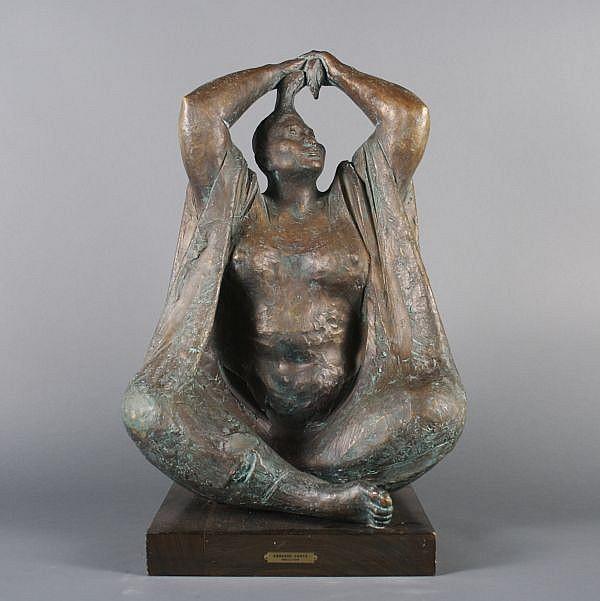 *Armando Amaya, (Mexican, b. 1935), Woman Holding Her Hair