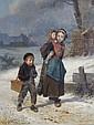 Louis Simon Cabaillot Lassalle, (French, b. 1810), Going to School, Louis-Simon Cabaillot-Lassalle, Click for value