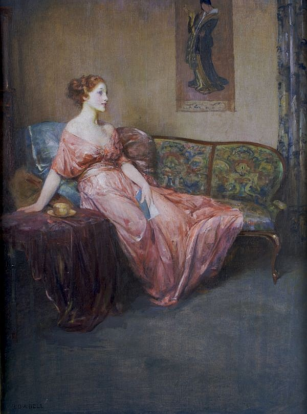 *Edward August Bell, (American, 1862-1939), Lady in Waiting
