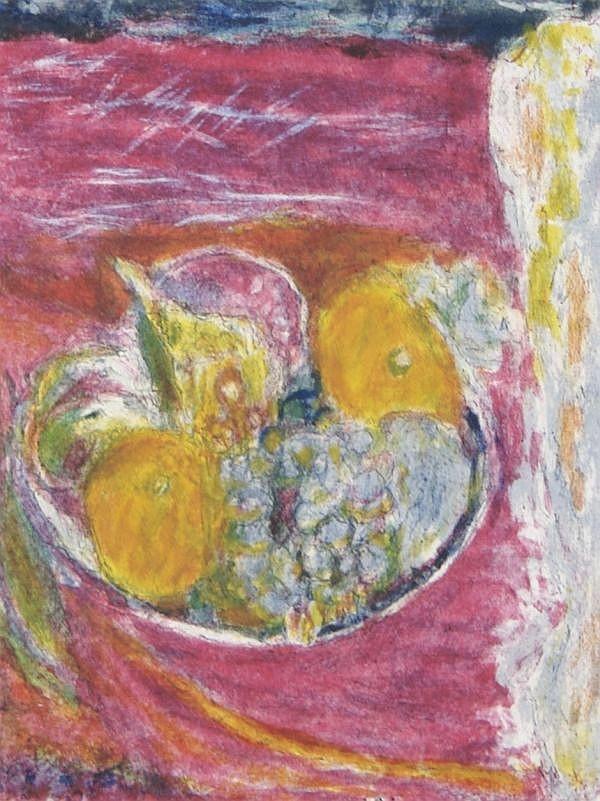 *Eleanor Coen, (American, b. 1916), Still Life with Fruit