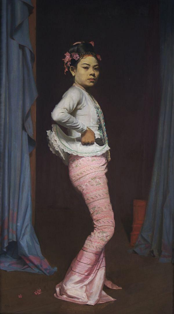 Sir Gerald Festus Kelly, (British, 1879-1972), Mah-Aung-Saw-Myang