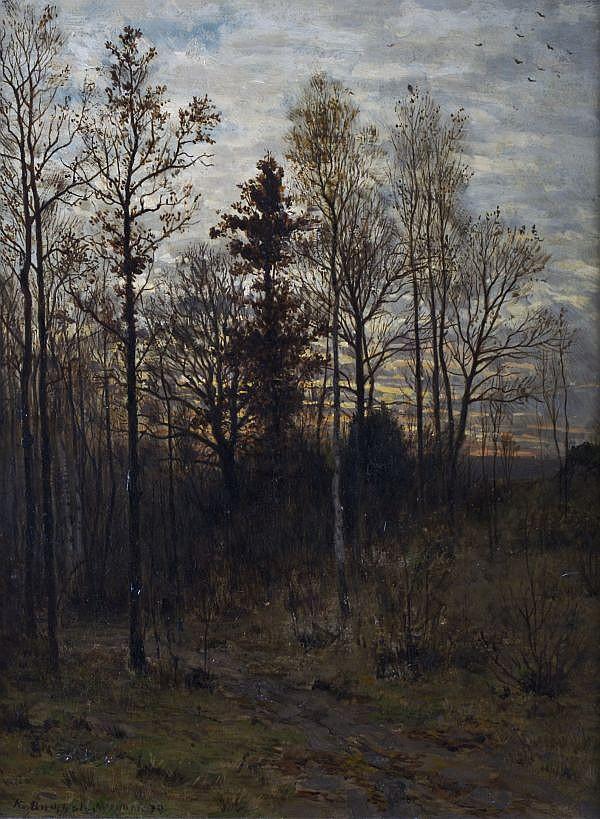 Karl Buchholz, (German, 1849-1889), Late Fall