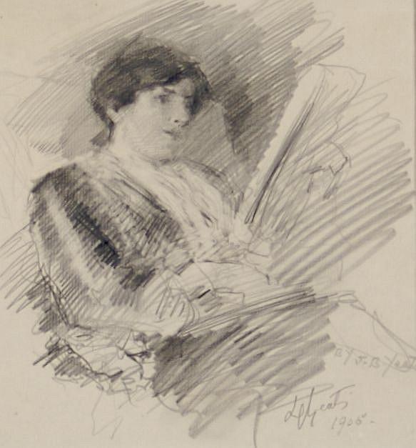 John Butler Yeats, (Irish, 1839-1922), Lily Yeats