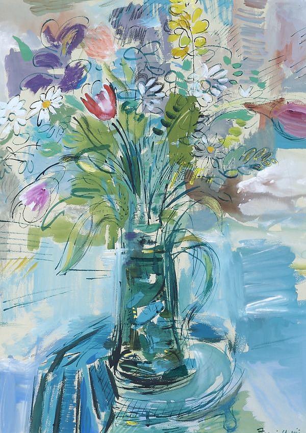 Francis Chapin, (American, 1899-1965), Violets
