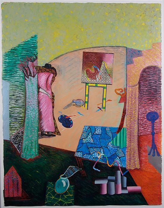 Phyllis Bramson, (American, b. 1941), Borrowing from Hockney but Rejecting his Embrace