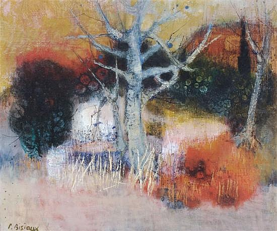 Pierre Bisiaux, (French, b. 1924), Red Forest