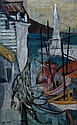 *Ellen Lanyon, (American, b. 1926), Dock Scene, Ellen Lanyon, Click for value