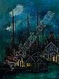 Julio de Diego, (Spanish/American, 1900-1979), Yellow Light and Boats, Julio De Diego, Click for value