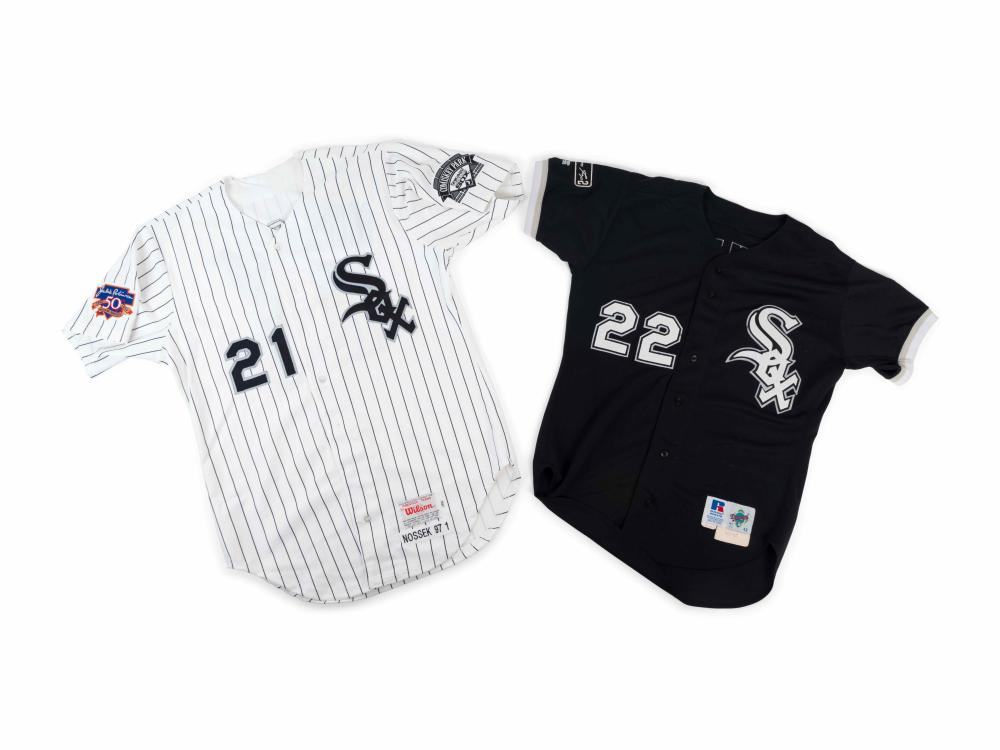 A Group of 1990s Chicago White Sox Game Used/Issued Jerseys With Jackie Robinson and Nellie Fox Patches,