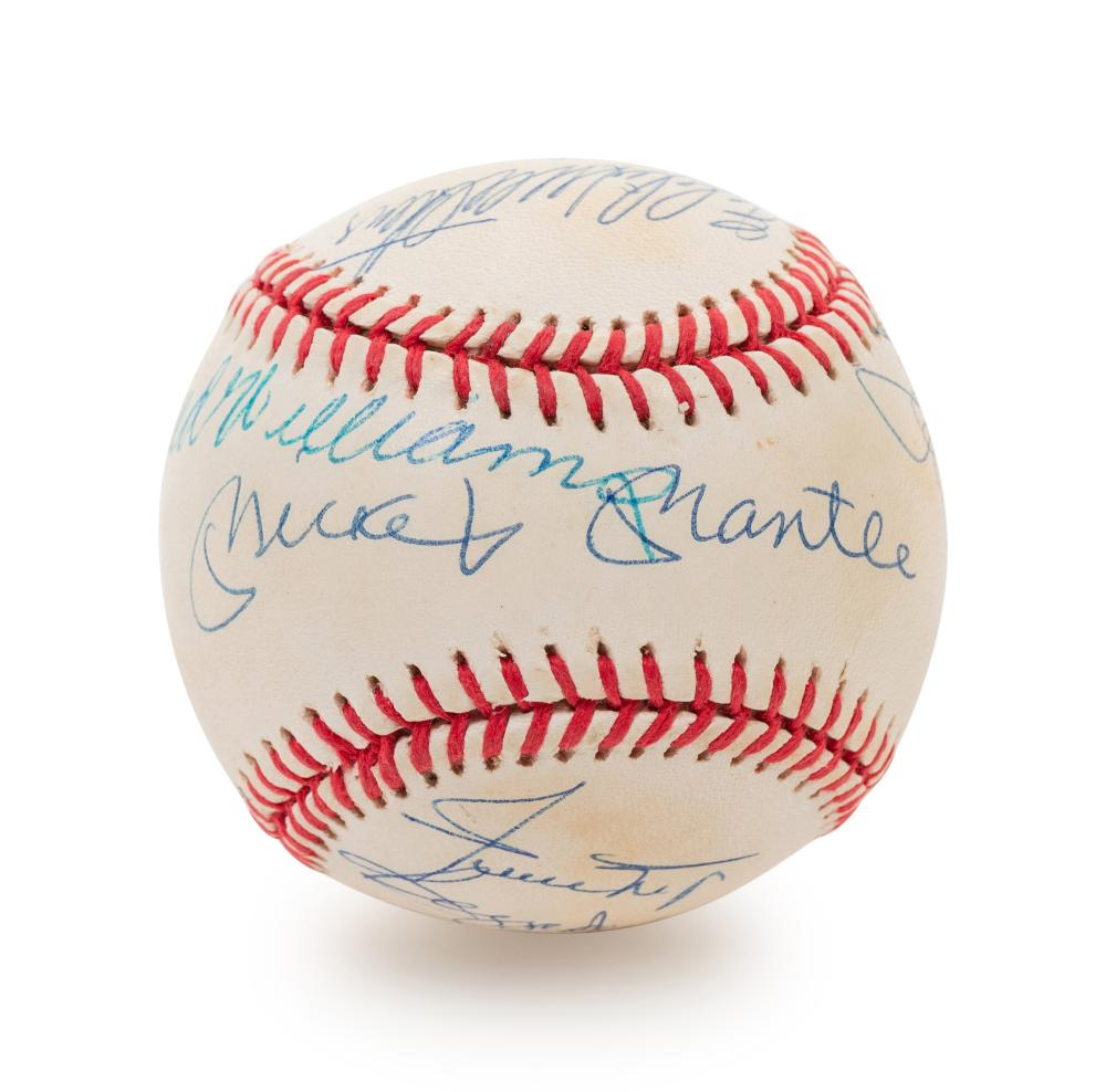 A 1980s 500 Home Run Club Signed Autograph Baseball Featuring 11 Autographs (PSA Authentic)