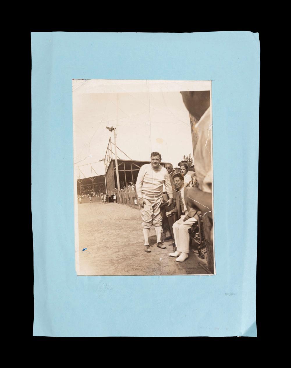An Original Vintage Babe Ruth Candid Snapshot Photograph,