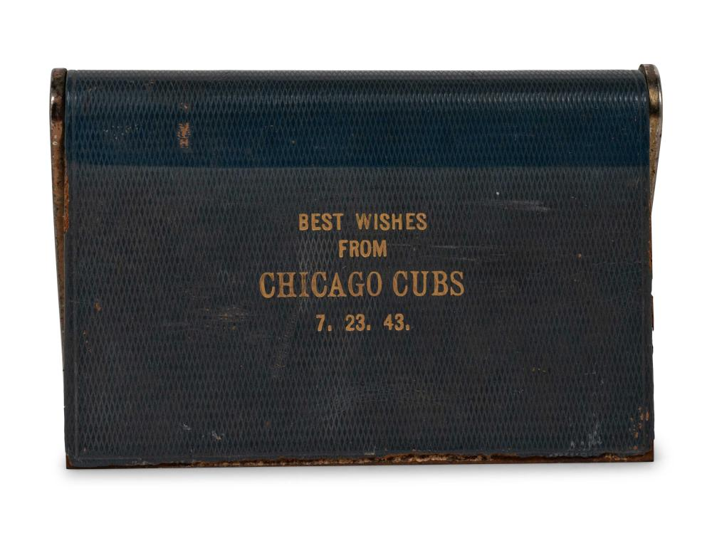 A Desk Clock Presented by the Chicago Cubs to Manager Jimmie Wilson on Wilson's 43rd Birthday.