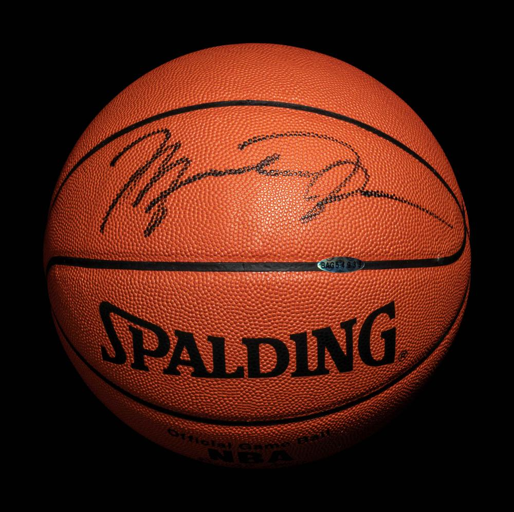 A Michael Jordan Signed Autograph Spalding NBA Game Ball (Upper Deck Authenticated)
