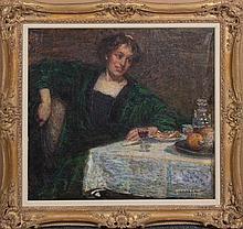 Hugo Larsen, (Danish, 1875-1950), At the Table, 1913