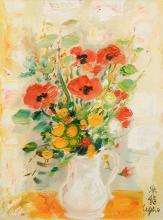 Le Pho (French/Vietnamese, 1907-2001) Fleurs des Champs