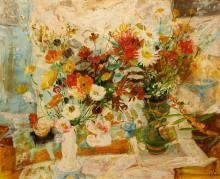 Le Pho (French/Vietnamese, 1907-2001) Fleurs