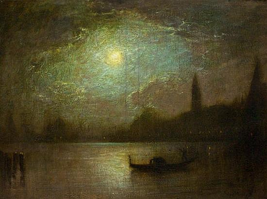 *George Henry Bogert, (American, 1864-1944), Venetian Canal Scene