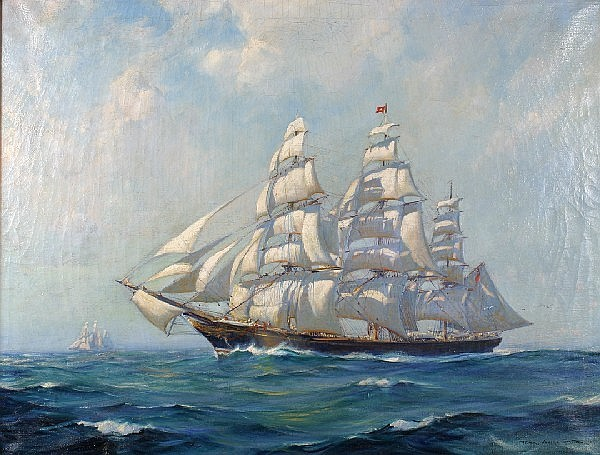 Frank Vining Smith, (American, 1879-1967), Clipper Ship at Sea