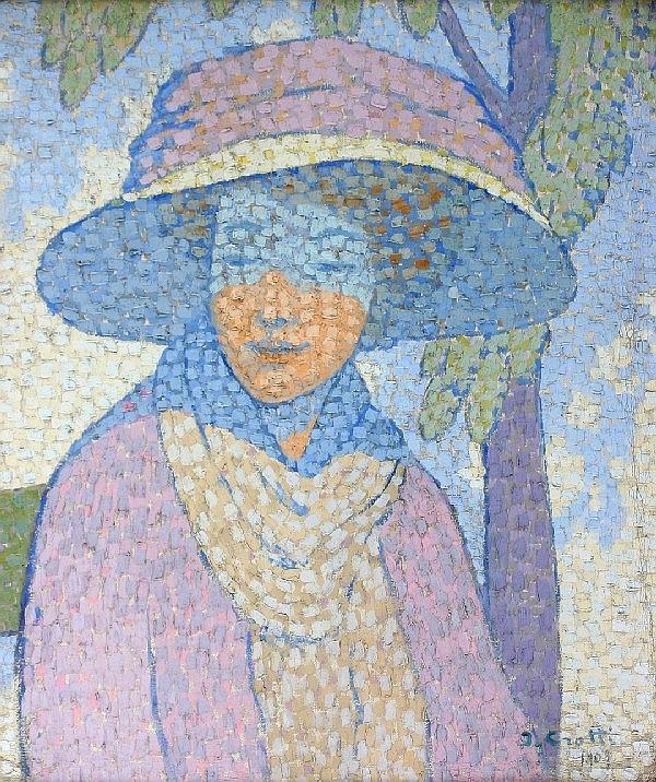 Jean Crotti, (French, 1878-1958), La Grand Chapeau Mauve