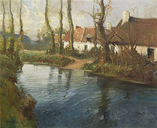 George Ames Aldrich, (American, 1872-1941), Cottages along the River