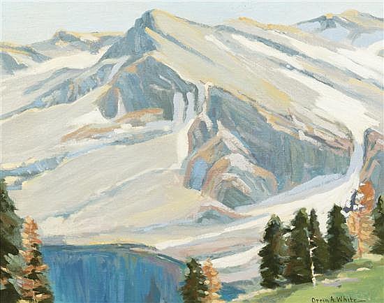 Orrin A. White, (American, 1883-1969), Mountain Scene