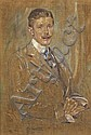 Robert Lewis Reid, (American, 1862-1929), Portrait of a Man, Robert (1924) Reid, Click for value
