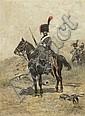 Edouard Jean Baptiste Detaille, (French, 1848-1912), Soldier on Horseback, 1892