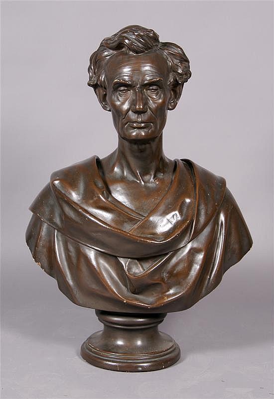 Leonard Wells Volk, (American, 1828-1895), Bust of Abraham Lincoln