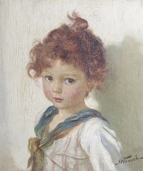 *Marie Wunsch, (German, 1862-1898), Portrait of a Young Girl