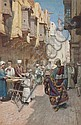 *Filippo Bartolini, (Italian, 1861-1908), Arab Street Scene, Filippo Bartolini, Click for value