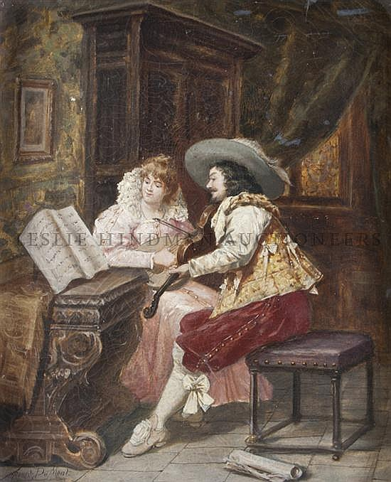 *Francois du Mont, (Belgian, 19th Century), The Music Lesson, 1902