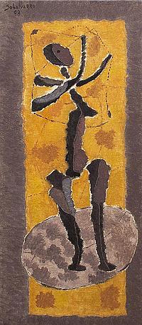 *Orlando Sobalvarro, (Nicaraguan, b. 1943), Game, 1998