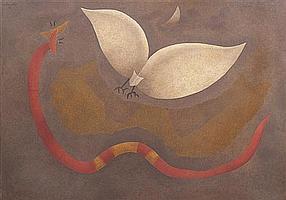 *Orlando Sobalvarro, (Nicaraguan, b. 1943), Bat and Snake