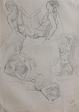 Daniel Bottero, (Argentinian, b. 1950), Two Nude Studies, 1987