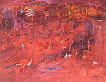 Daniel Bottero, (Argentinian, b. 1951), The Cities- Red II Tears, 2002