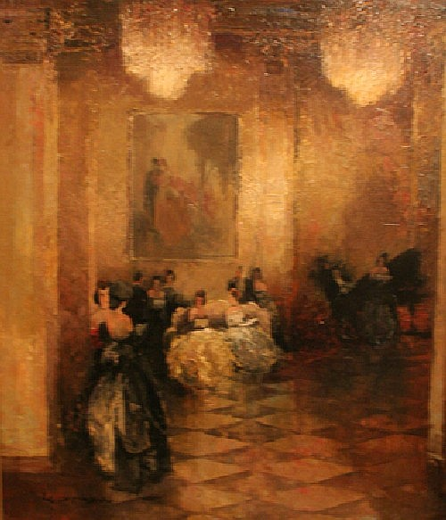 Ludwig Gschossmann, (German, 1894-1988), In the Ballroom