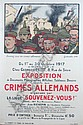 *Adrien Barrere, (French, 1877-1931), Exposition Crimes Allemands, Adrien Barrère, Click for value