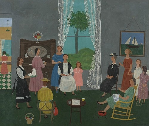 *Doris Emrick Lee, (American, 1905-1983), The Sewing Circle