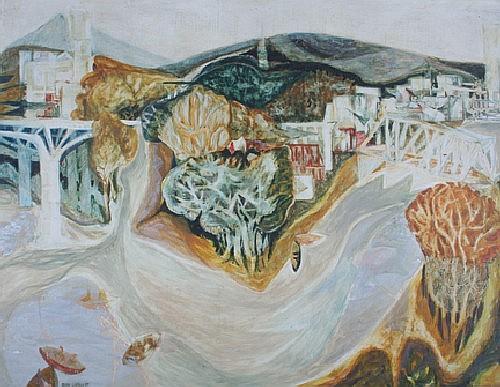 *Ellen Lanyon, (American, b. 1926), Rock River