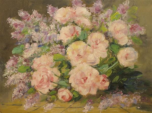 Martin Rettig, (American 1869-1956), Still Life with Flowers