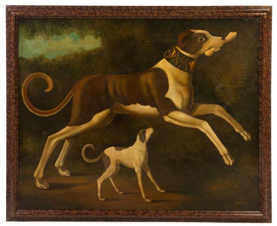 William Skilling, (American, 1892-1964), Whippets