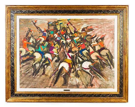 * Magdalena Radulescu, (Romanian, 1902-1983), The Horses' Asses