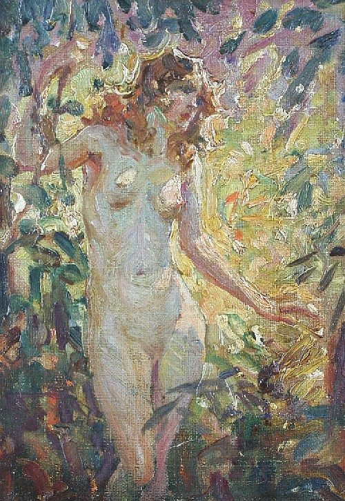 Glenn C. Sheffer, (American, 1881-1948), Pair of Female Nudes