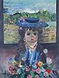 Jean Calogero, (Italian, 1922-2001), Girl with Blue Hat, Jean Calogero, Click for value