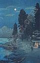 Takahashi Hiroaki, (Japanese, 1871-1945), Moonlit Landscape, Hiroaki Takahashi, Click for value