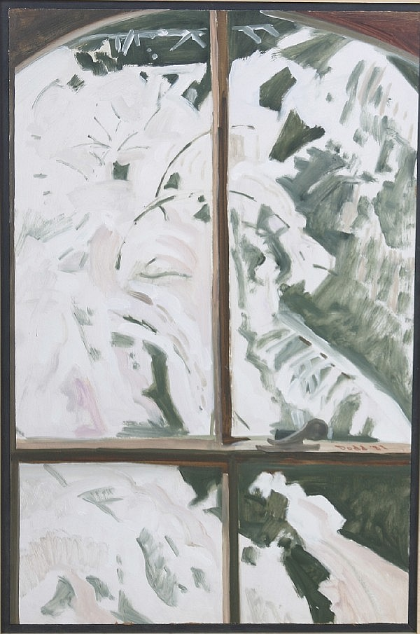 Lois Dodd, (American, 20th Century), Show Window, together with Barn Window