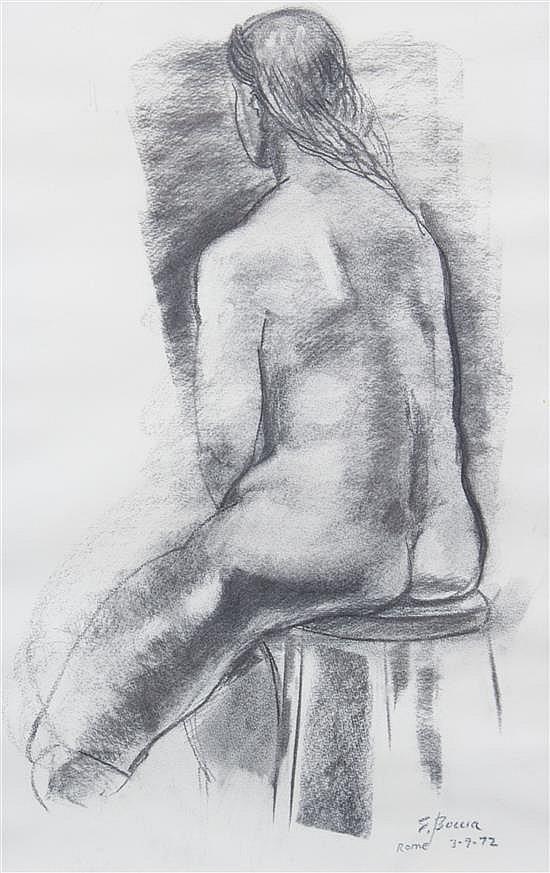 * Edward Boccia, (American, b. 1921), Untitled, 1972 (Female nude figure study)